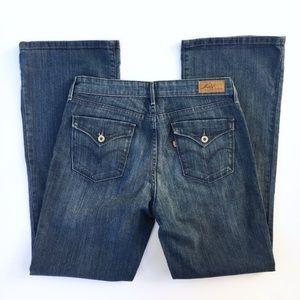Levi's bootcut demi curve jeans stretch 10/30